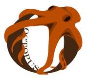 O (octopus). An alphabet lettel O as an octopus Royalty Free Stock Photography