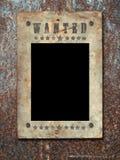 O oeste selvagem denominou o poster. Foto de Stock