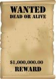 O oeste selvagem quis o vetor do poster Imagem de Stock