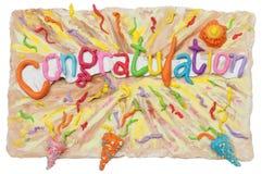 O ofício da mão do cartão das felicitações tem o cre da escultura do relevo Imagem de Stock Royalty Free