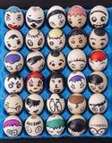 O ofício das crianças das caras tiradas em ovos imagem de stock royalty free