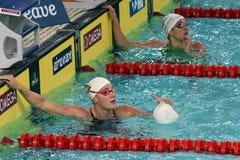 O olímpico e o recordista dinamarqueses correm o nadador Jeanette Ottesen do estilo livre Foto de Stock Royalty Free