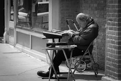 O oldman de Springfield Foto de Stock