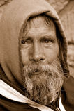 O olhar desabrigado do homem Fotografia de Stock Royalty Free