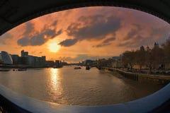 O olho da ponte em Londres Fotos de Stock Royalty Free