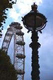 O olho de Londres atrás das árvores Fotos de Stock