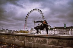 O olho de Londres do oficial fotos de stock royalty free