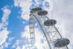 O olho de Londres em Londres, Reino Unido Fotografia de Stock