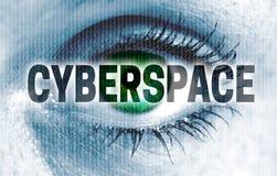 O olho do Cyberspace olha o conceito do visor fotos de stock