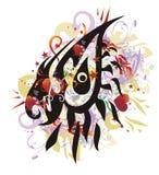 O olho do dragão espirra com os corações vermelhos Fotos de Stock