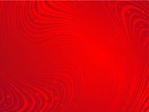 O ondeamento vermelho acena o fundo abstrato Fotografia de Stock Royalty Free