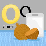 O for onion Royalty Free Stock Photo