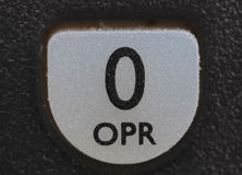 O operator key from old cell phone. Isolated Stock Photo