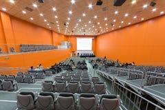 O orador e a audiência no segundos congresso e exposição euro-asiáticos ExpoCityTrans-2012 Imagens de Stock Royalty Free