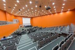 O orador e a audiência no segundos congresso e exposição euro-asiáticos ExpoCityTrans-2012 Imagens de Stock