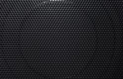 O orador preto pode ser usado como a grade do preto do fundo dos oradores Foto de Stock