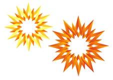 O origami Sun ilustração stock