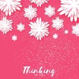 O origâmi bonito pica o cartão floral com lugar para o texto Imagens de Stock
