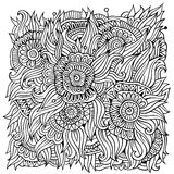 O ornamental floral rabisca o fundo do vetor ilustração do vetor