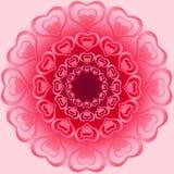 O ornamento brilhante bonito para o Valentim feito do coração dá forma no dif Imagens de Stock Royalty Free