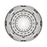 O ornamento de metal dos corações no círculo Fotos de Stock