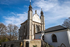 O Ossuary de Sedlec (Checo: Kostnice v Sedlci) em República Checa Fotos de Stock Royalty Free