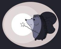 O ouriço da ilustração brilha na obscuridade Imagens de Stock Royalty Free