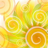 O ouro abstrato roda contexto ilustração do vetor