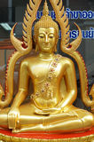 O ouro buddha Foto de Stock