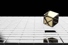 O ouro cúbico estala acima ilustração do vetor