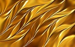 O ouro coloriu a ilustração abstrata shinning do vetor do papel de parede do fundo das folhas ilustração do vetor