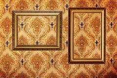 O ouro do vintage chapeou frames de retrato em ÑÑдд Imagens de Stock