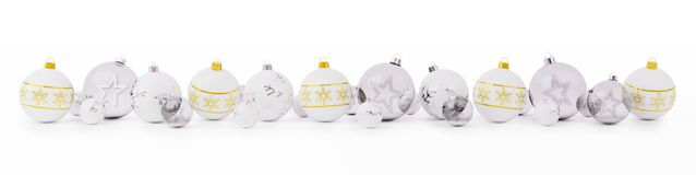 O ouro e as quinquilharias do White Christmas alinharam a rendição 3D ilustração royalty free