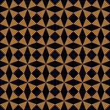 O ouro geométrico sem emenda e o preto Art Deco modelam o fundo Imagem de Stock Royalty Free