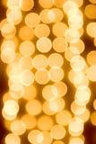 O ouro mancha o bokeh Fotos de Stock Royalty Free