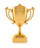 O ouro ostenta o copo de campeão Imagens de Stock Royalty Free