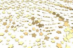 O ouro ou a platina stars o voo sobre o fundo branco Ilustração da modelagem 3d conceito rico do bitcoin da mineração da riqueza ilustração stock