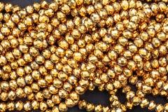 O ouro perla a colar Fotos de Stock Royalty Free