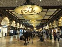 O ouro Souk na alameda de Dubai em Dubai, UAE foto de stock