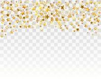 O ouro stars o fundo do feriado Imagem de Stock Royalty Free