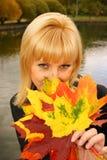 O outono da senhora Fotografia de Stock