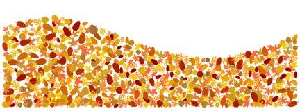 O outono deixa a formulário uma onda ilustração stock