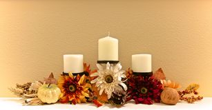 O outono floresce candelabros foto de stock