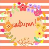 O outono floresce o fundo do molde ilustração royalty free