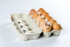 O ovo bonito entre outro Imagens de Stock Royalty Free