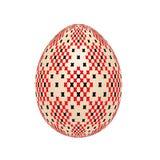 O ovo da páscoa com teste padrão étnico do ponto de cruz ucraniano fotografia de stock royalty free