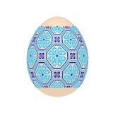 O ovo da páscoa com teste padrão étnico do ponto de cruz ucraniano fotos de stock royalty free
