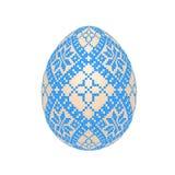 O ovo da páscoa com teste padrão étnico do ponto de cruz ucraniano foto de stock royalty free