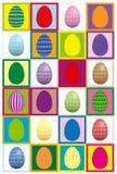 O ovo da páscoa emparelha o jogo da concentração ilustração stock