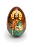 O ovo de Easter do russo isolou-se Imagens de Stock